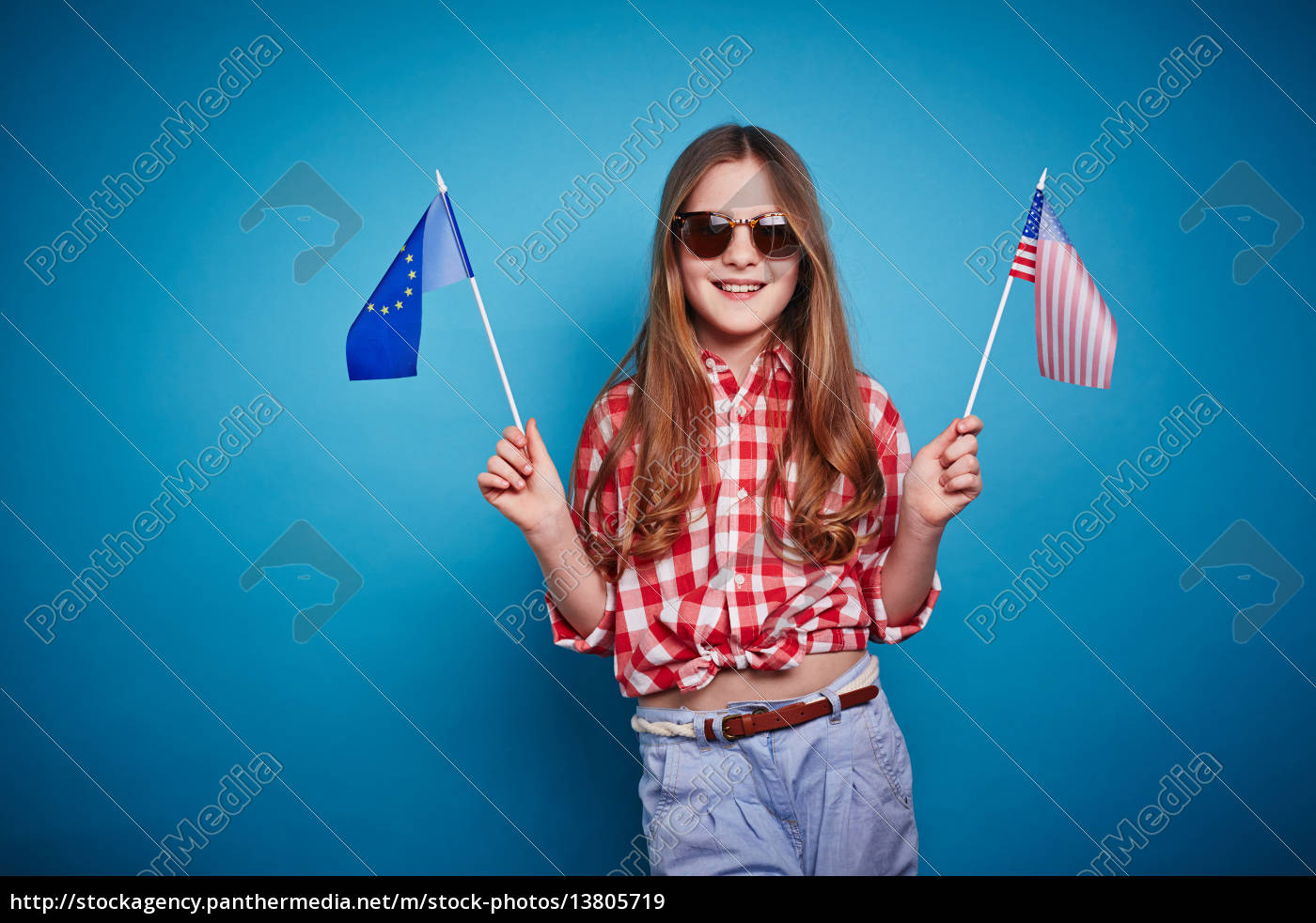 girl, with, european, union, and, american - 13805719