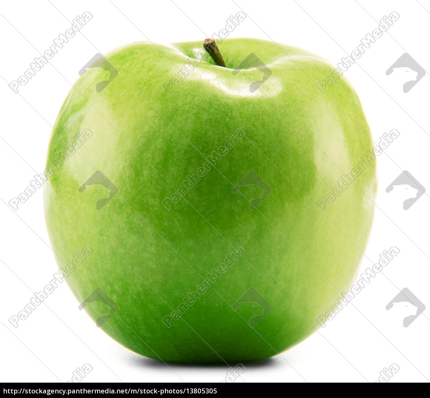 green, apple, isolated, on, white - 13805305