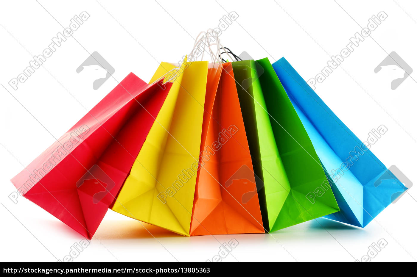 paper, shopping, bags, isolated, on, white - 13805363