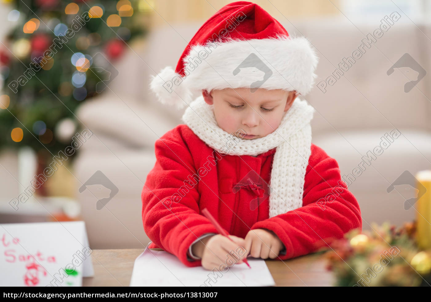 festive, little, boy, writing, wish, list - 13813007