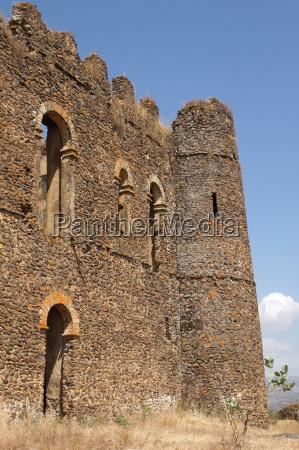 palace ruin of guzara gondar ethiopia