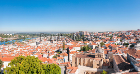 panoramic view of coimbra in portugal