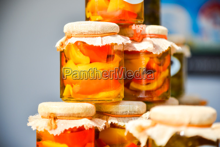 home canned peppers in jars