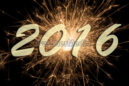 new year 2016 with big brilliant
