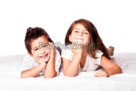 cute children siblings