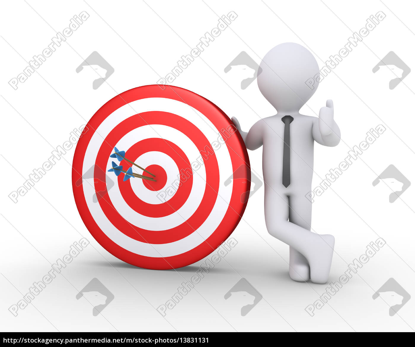 businessman, and, target, with, arrows - 13831131