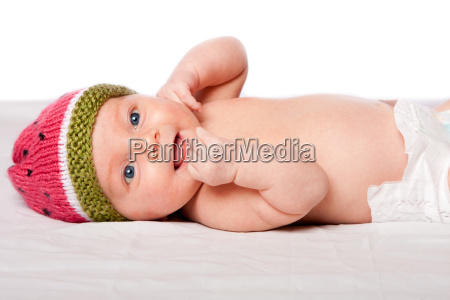 happy, baby, infant, with, hat - 13831919