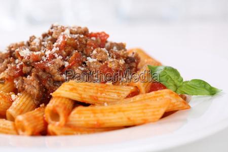 penne bolognese or bolognaise sauce pasta