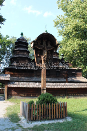 nice wooden church in village of