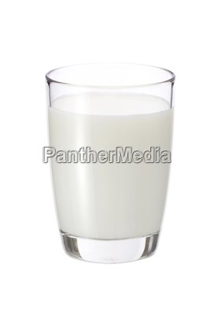 fresh milk in the glass on