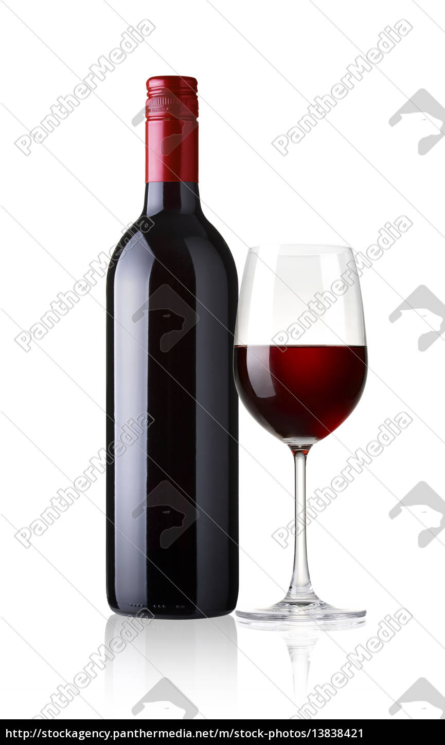 glass, and, bottle, of, red, wine - 13838421