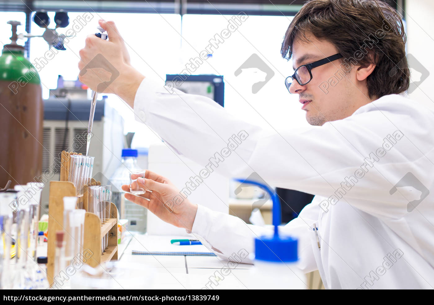 male, researcher, carrying, out, scientific, research - 13839749