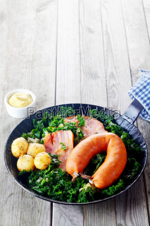 healthy german recipe on pan with