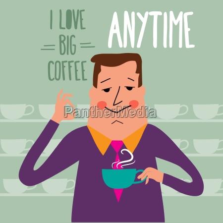 coffee break businessman drinking coffee