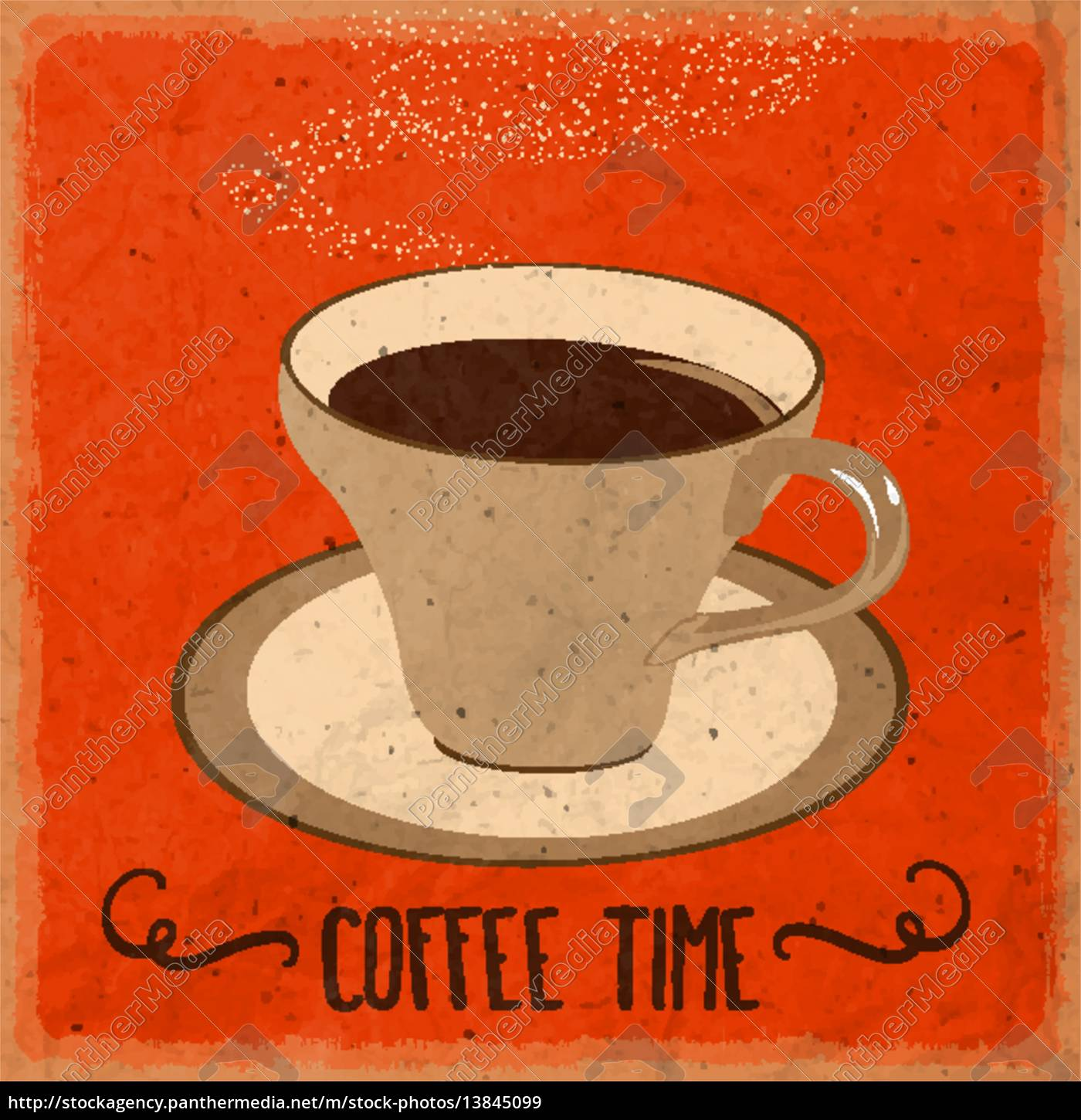retro, background, with, coffee, quote - 13845099