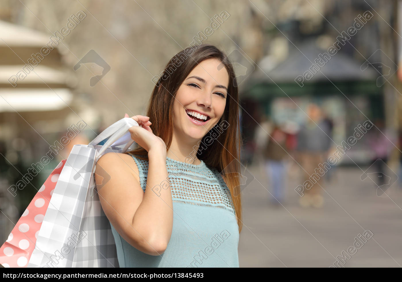 shopper, woman, buying, and, holding, shopping - 13845493