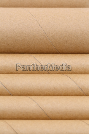 cardboard tube on a white background