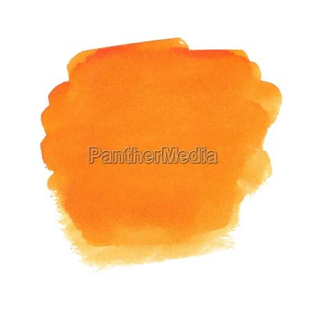 orange watercolor spot