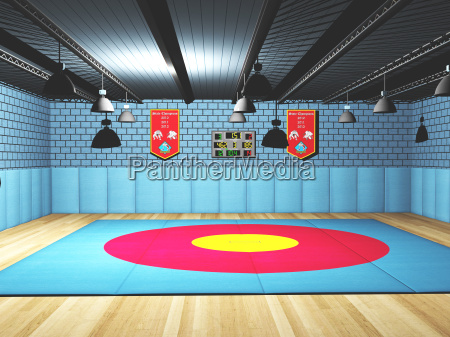 sports hall for wrestling