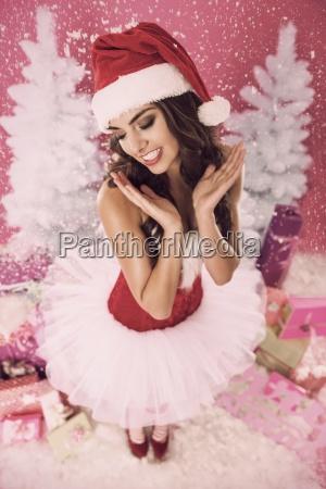cute and beautiful christmas girl