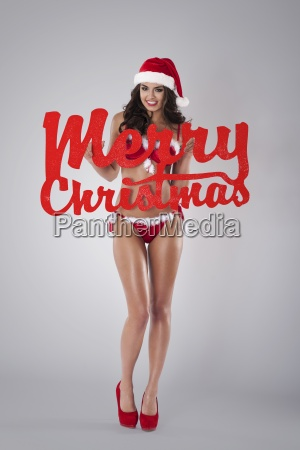 merry christmas from sexy santa claus
