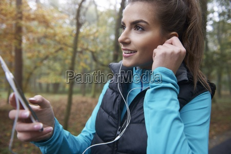 good music during the jogging is