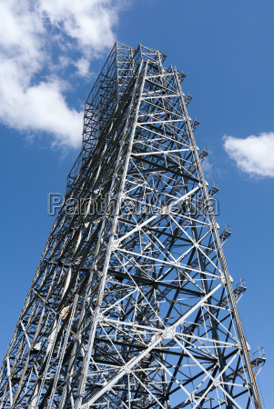steel framework of seen against a
