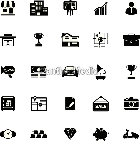 asset and property icons on white