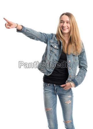 girl holds a presentation