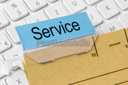 file labeled service