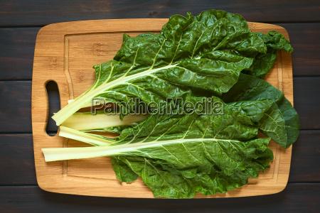 raw chard leaves