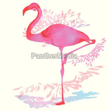 shadow blob with flamingo