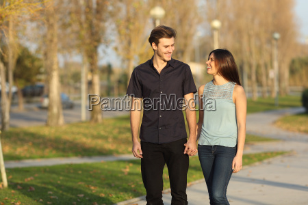 couple taking a walk in a