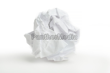 close up of crumpled paper ball