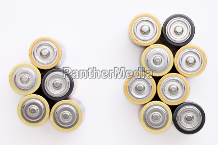aa battery on a white background
