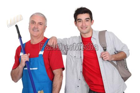 teenager stood with decorator