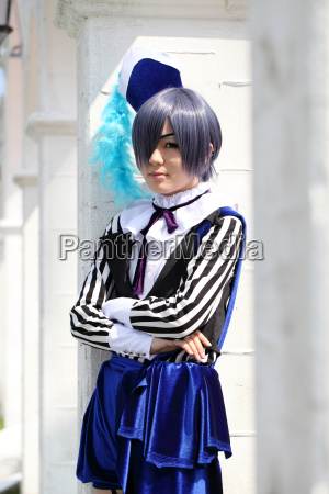 young japanese girl dressed in cosplay