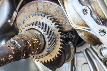 gearwheel of the old engine