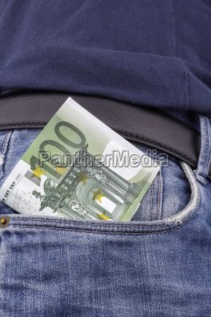 euros eur in a pocket