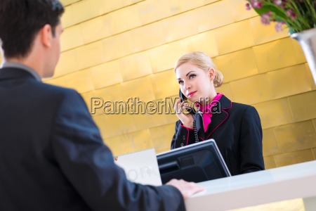 hotel receptionist phoned guest