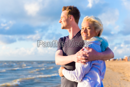 couple at romantic sunset on the