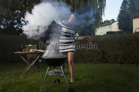 woman at the barbecue