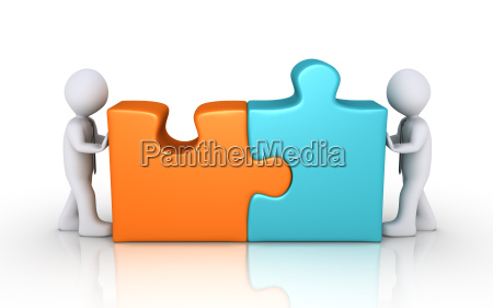 agreement concept with puzzle pieces