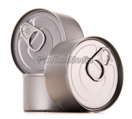 composition with three metal cans isolated