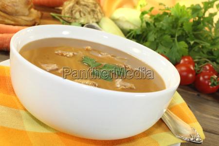 fresh delicious winter duck soup