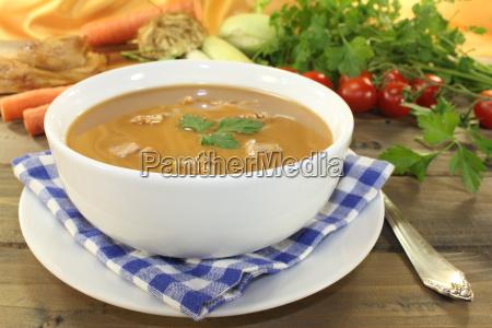 fresh tasty duck soup