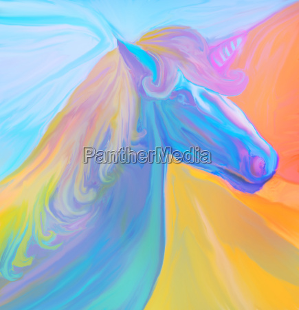 portrait of magic unicorn
