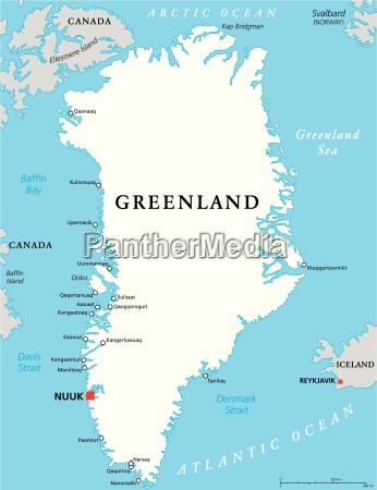 mappa politica della groenlandia