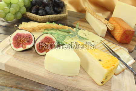 fresh selection of cheese