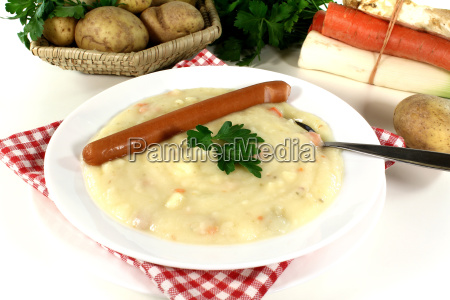 potato soup with vienna sausages and